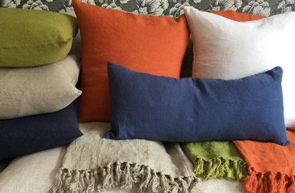 Swedish Linen Cushions & Throws