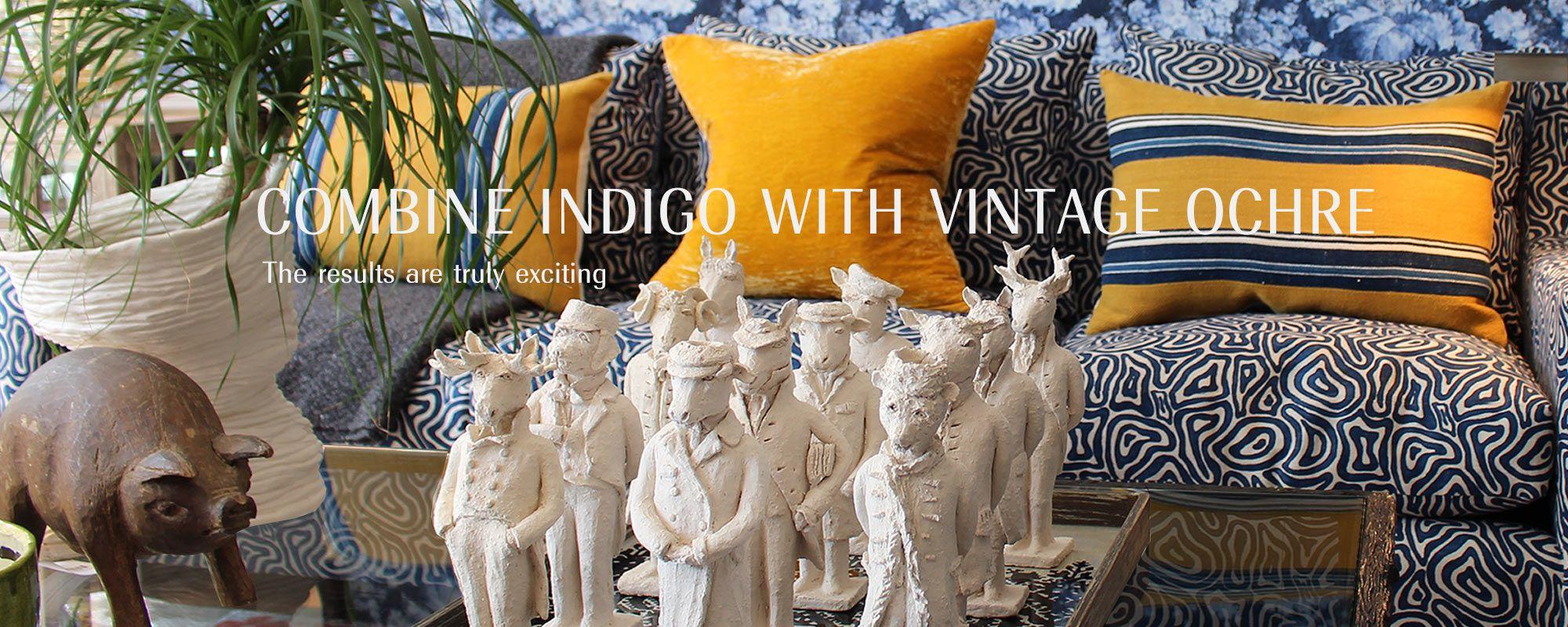 Combine Indigo with Vintage Ochre