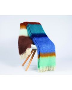 Matisse Mohair Throw Blue