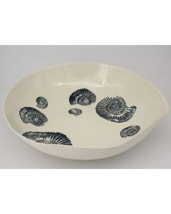 Fossil Serving Bowl in Jade 43cm