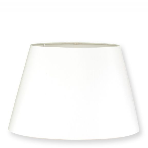 Linen 17'' Oval Lampshade - Ivory