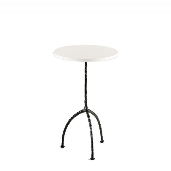Stina Chalk Cocktail Table Large - Bronzed finish with Eggshell top