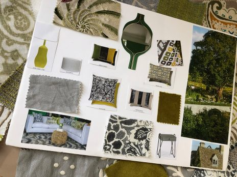 A mood board - Spring in the countryside